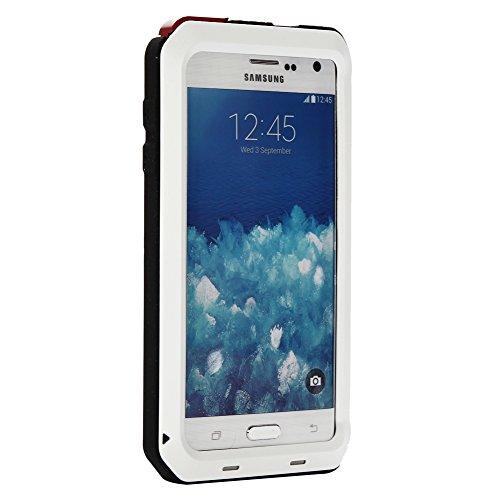 MNBS Phone Coque Etui Housse Antichoc Militaire Heavy Duty Shock Proof Survivor Protective Housse Pour iPhone 6/6SRed White 6