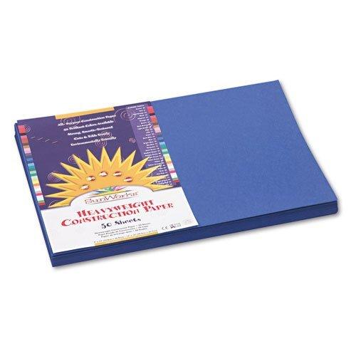 MOT Sunworks 7307Konstruktion Papier, 58lbs, 12x 18, Dark Blue, 50Blatt/Pack