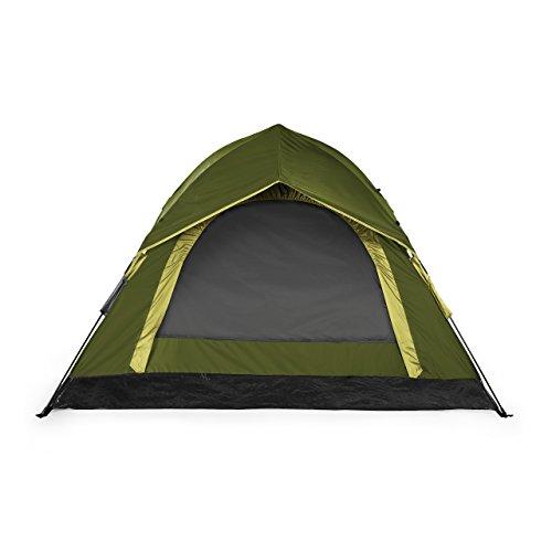 Lumaland Outdoor leichtes Pop Up Wurfzelt 3 Personen Zelt Camping Festival etc. 210 x 190 x 110 cm robust Grün - 2