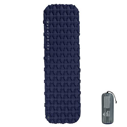 Naturehike Isomatte leicht 6,5 cm Dicke,Einzelne Schlafmatten,Aufblasbares Luftkissen Outdoor Kompakt und feuchtigkeitsfest für Wandern, Backpacking, Camping (Navy Blau)