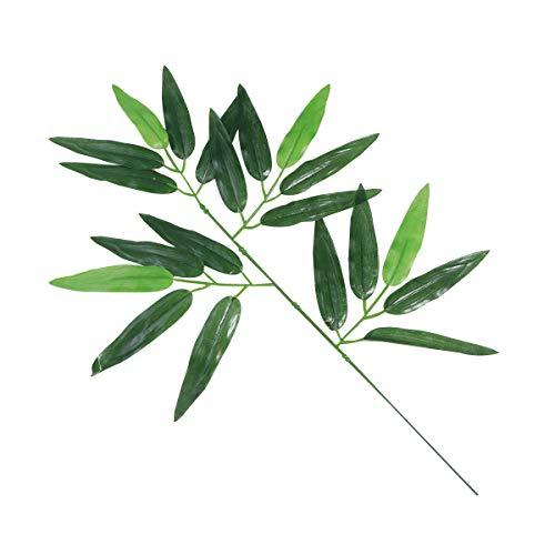 Vosarea 12 Piezas bambú Artificial Deja Plantas Verdes