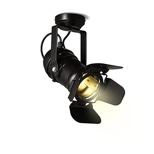 BRIGHTLLT Techo retro moderno de la lámpara LED KTV bar del salón de pelo pista sonda Showroom Guía Industrial Servicio spotlamp de cuatro hojas, 390 * H215mm