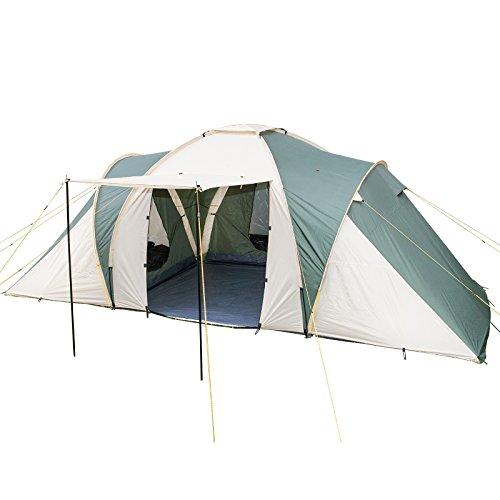 skandika 6 daytona 6 group dome tent-beige/brown, 6 persons