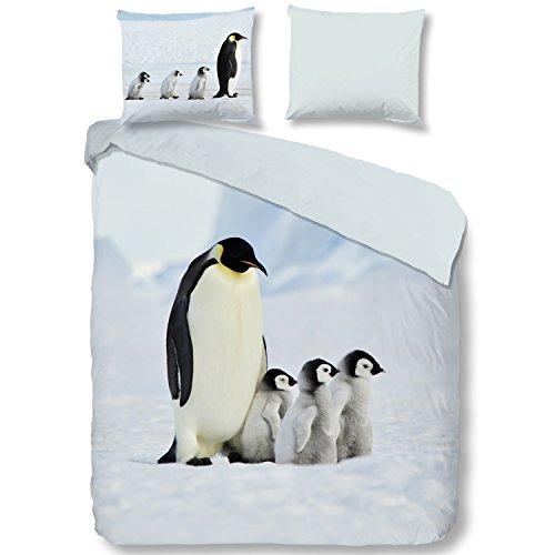 Good Morning! Bettwäsche Pinguine 155x220 cm + 80x80 cm