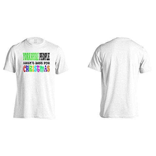 PERSONE YORKSHIRE non sono solo per NATALE DIVERTENTE Uomo T-shirt u11m White