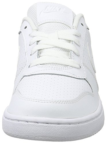 Nike Damen Wmns Court Borough Low Basketballschuhe, Schwarz, 36 EU Weiß (Weiß (white/white-white))