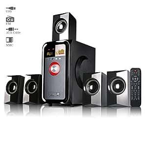 Truvison SE-5095 5.1 Multimedia Speaker System with USB FM AUX MMC Superior Sound Clarity