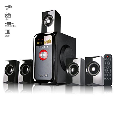 Truvison SE-5095 5.1 Multimedia Speaker System with USB FM AUX MMC Superior Sound Clarity  available at amazon for Rs.3999