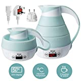 Foldable Silicone Travel Electric Kettle LED Display Precise Temperature Control for Hot Water