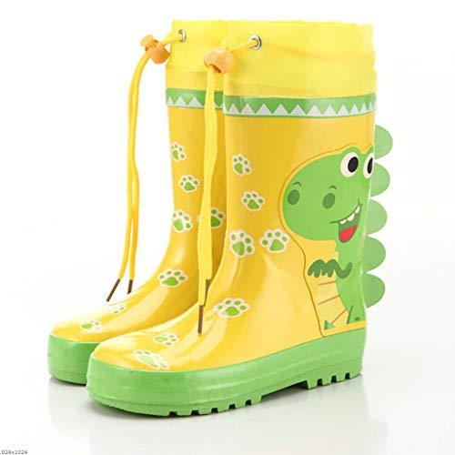 Baby-kalb Schuhe (CKH Niedlicher Dinosaurier-Kinderregen lädt Jungen und Mädchen-hohe Schlauch-Baby-Wasser-Schuh-Regen-Aufladungen auf (Size : 24))