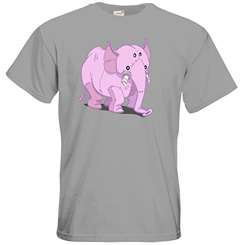 getshirts - Daedalic Official Merchandise - T-Shirt - Deponia Doomsday - Elefant pacific grey