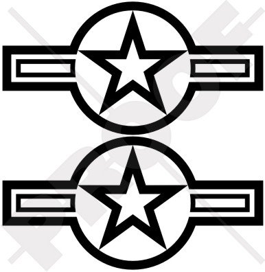 rondell-usaf-us-airforce-navy-usmc-army-160-cm-160-mm-vinyl-bumper-sticker-aufkleber-x2-22-farben-zu