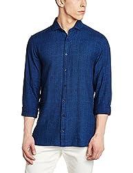 Tommy Hilfiger Mens Casual Shirt (8907504335831_P7AMW151_XL_Indigo)