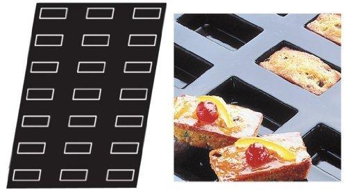 Flexipan 336104 Rectangular 21 Cakes Nonstick Sheet Mold by Matfer Bourgeat Flexipan Non-stick Sheet