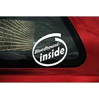Bloodhound Cane Interno Adesivo–Bordo Auto Segno