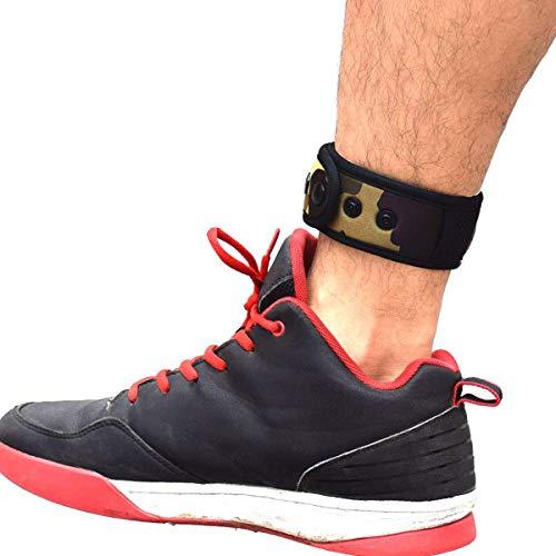 B-Great Knöchelband mit Netztasche für Männer und Frauen, kompatibel mit Fitbit Flex 2/Fitbit One/Fitbit Alta/Fitbit Charge 2 3/Misfit Ray/Fitbit Inspire HR Fitness-Tracker, Jungen, Camouflage, Small