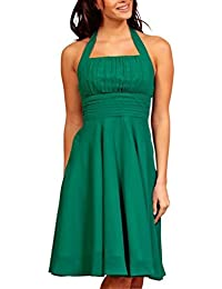My Evening Dress - Kurzes Chiffon Cocktailkleid Neckholder Abendkleid Ball Gerüscht