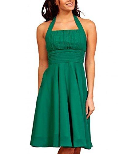 My Evening Dress- Robe de Soirée en Mousseline de Soie Habillée pour Cocktail et fête Vert