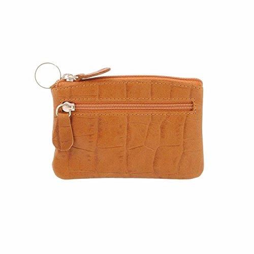 Pelle chiave e borsa Misure: U Colore: CASTAGNA