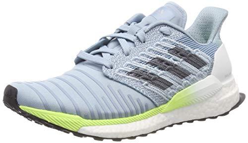 adidas Damen Solar Boost W Laufschuhe, Grau (Ash Grey S18/Onix/Hi/Res Yellow Ash Grey S18/Onix/Hi/Res Yellow), 40 EU