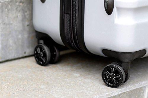 bugatti, Corium Expandable, 4 Doppel-Rollen Kabinen-Hartschalen Koffer, leichter erweiterbarer Trolley, L - 75 cm, TSA Schloss, 98 l, 4.18 kg, silber - 5