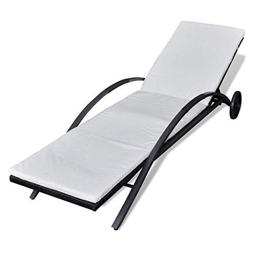 helloshop262202014Anglerliege, Garten Relax, schwarz, 200x 65x 38cm