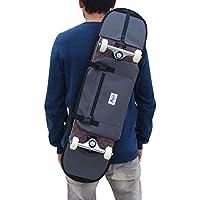 Mochila porta monopatín y bandolera skateboard - accesorio para regalar a niño skater o adolescente, color gris