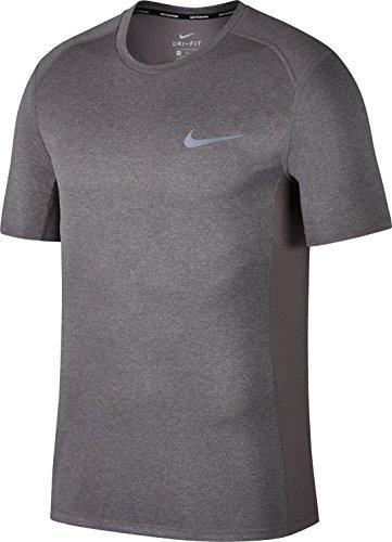 Nike Herren T-Shirt Dry Miler, Gunsmoke/Htr, L, 833591