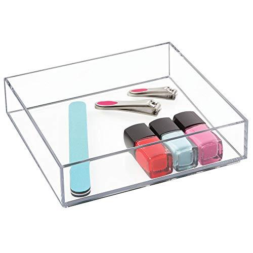 iDesign Clarity Kosmetik Organizer, quadratische Schubladenbox aus Kunststoff, durchsichtig