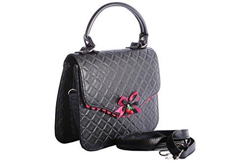 vintage Argyle retro rockabilly Tasche BOW Cherry Handtasche -