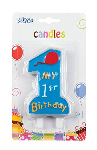 Boland 63411-Vela My 1st Birthday, Azul
