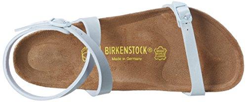 Birkenstock - Daloa Birko-flor, Scarpe col tacco con cinturino a T Donna Blu (Blau (Graceful Babyblue))