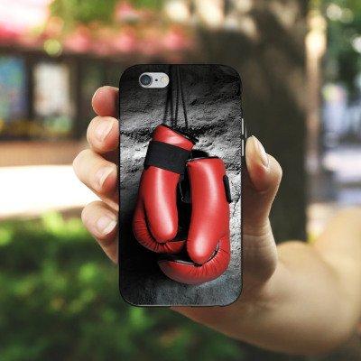 Apple iPhone 5s Housse Outdoor Étui militaire Coque Boxe Gants de boxe Fight Housse en silicone noir / blanc