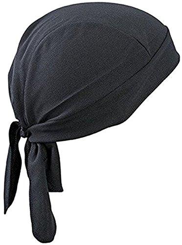 Brave Pioneer Bandana Kopftuch UV Schutz Biker Tuch Bandana Cap Kappe Fahrrad Mütze Piratentuch Beach Kopftuch Baumwolle Unisex Körpererziehung Erwachsene (schwarz) (Braves Binden)