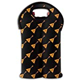 Balalaika Two Bottle Wine Carrier Tote Bag Neoprene Wine/Water Bottle Holder Keeps Bottles Protected