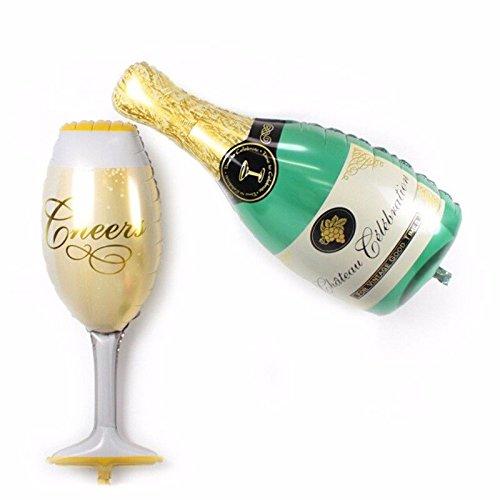n Fußball aufblasbar Flasche Champagner + Kelch Geburtstag Party (Aufblasbare Champagner-flaschen)