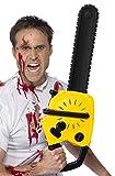 Smiffys Spielzeug Kettensäge mit Soundeffekt, Batterien enthalten, 53cm, One Size, Schwarz und Gelb, 39279