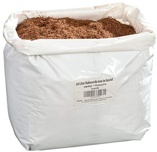 Humusziegel 20 litres substrat Naturel en Vrac dans Un Sachet - 100% Terre de Coco Pure comme litière substrat substrat à Base de Coco