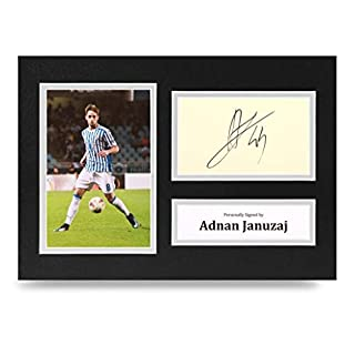 Adnan Januzaj Signed A4 Photo Display Real Sociedad Autograph Memorabilia + COA