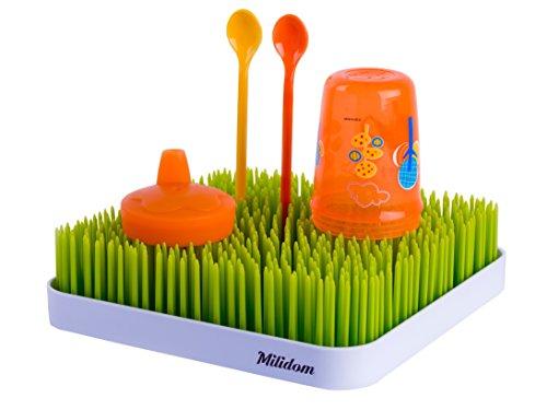 Milidom Premium Flaschentrockner-Trockenständer für Flaschen und Flaschenzubehör- Abtropfgestell (Grün)