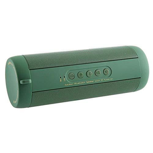 GH-YS Multifunktions-Bluetooth-Lautsprecher, Wasserdichte Outdoor-Riding-Taschenlampe Karte Tragbaren Audio-Subwoofer,Green