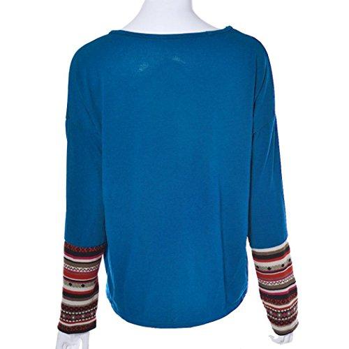 Bestop women swaetshirt Maglia a Manica Lunga - Donna Blue 4