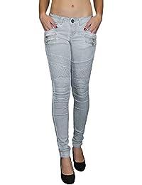 S&LU Damen Jeans aufgesetzte Reißverschlüsse W32 - W40 L583