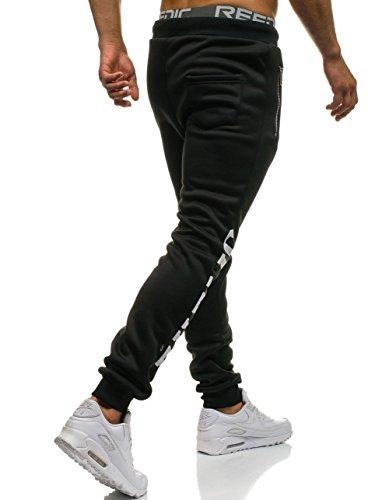 BOLF Herrenhose Baggy Sporthose Trainingshose Jogginghose Fitnesshose Mix 6F6 Schwarz_871