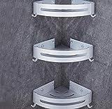 HHpcspc Mensole Bagno d'angolo Mensola 1 2 3 Story Doccia Bagagli Alluminio Durevole Basket Angolo Cottura (Size : C)