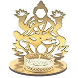 Satyam Kraft ( 1 Pcs ) Lakshmi Ji Shadow Lamps T-light Candle Holder And Diya With Stand For Pooja And Decorative /Goddess Lakshmi For Diwali Home Decor Gift Collection