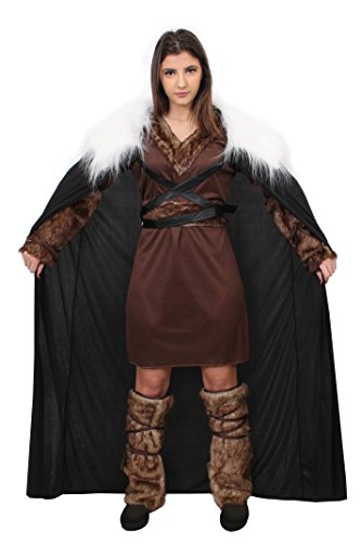 Game Thrones Kostüm Frauen Of - VIKINGER KRIEGER PRINZESSIN=KOSTÜM VERKLEIDUNG RAGNAR=5 GRÖSSEN=4 TEILIG=TUNIKA+GÜRTEL+ARM FELLIMITAT BINDEN+FELL IMITAT STULPEN+UMHANG KUNSTFELL KRAGEN =GAME OFF THRONES FASCHING KARNEVAL = XXLARGE