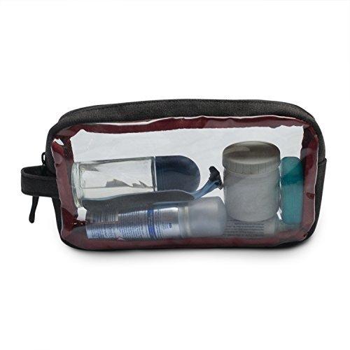 Arcido Kulturbeutel :  Flughafensicherheitskompatibler Kulturbeutel / Transparente PVC Tasche für Flüssigkeiten 22 x 11 x 5 cm
