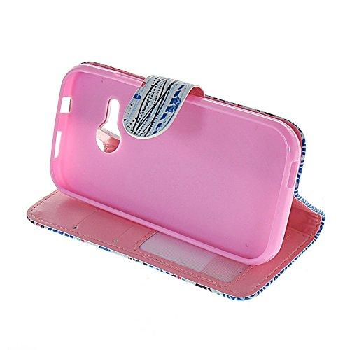 MOONCASE Coque en Cuir Portefeuille Housse de Protection Étui à rabat Case pour Apple iPhone 6 (4.7 inch) A15812