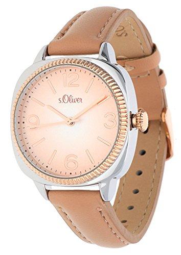 s. Oliver–Reloj de pulsera analógico para mujer cuarzo piel So de 15133de LQR
